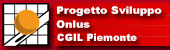 Logo Progetto Sviluppo Onlus CGIL Piemonte