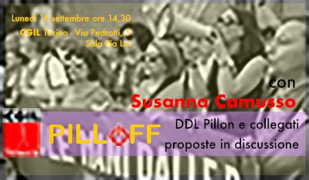 Pill/off a Torino il 16/09 con Susanna Camusso