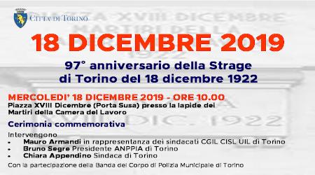 Mercoledì 18 dicembre ricorre il 97° anniversario dei Martiri della Camera del Lavoro
